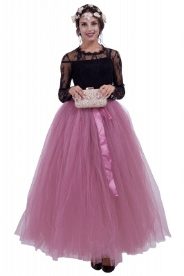 Fascinating Tulle Floor-Length Ball-Gown Skirts | Elastic Women's Skirts_4