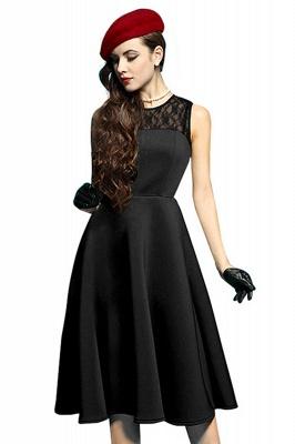 Elegant Jewel Lace Sleeveless Fashion Dresses   Sweetheart Women's Dress_6