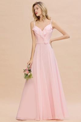 Cynthia | Stylish Straps V Neck Long Cheap Bridesmaid Dress Online_5