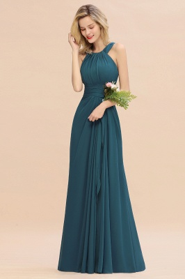 KENDALL  | Sexy A-Line Sleeveless Floor Length Ruffles Chiffon Bridesmaid Dresses Cheap Online_7