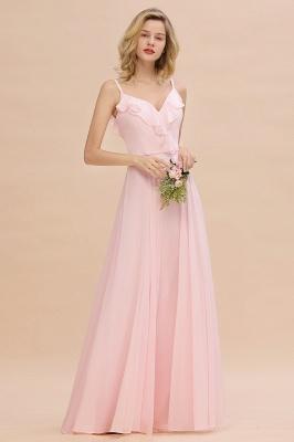 Cynthia | Stylish Straps V Neck Long Cheap Bridesmaid Dress Online_2
