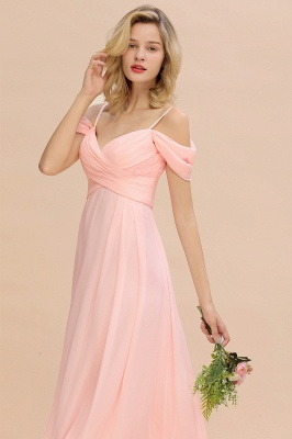 Spaghetti Straps Sweetheart Ruffles Bridesmaid Dress | Evening Dresses Online_8
