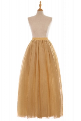 Glamorous A-line Floor-Length Skirt | Elastic Women's Skirts_7