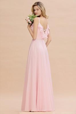 Cynthia | Stylish Straps V Neck Long Cheap Bridesmaid Dress Online_7