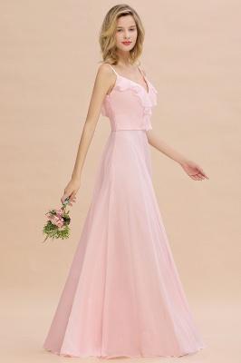 Cynthia | Stylish Straps V Neck Long Cheap Bridesmaid Dress Online_6