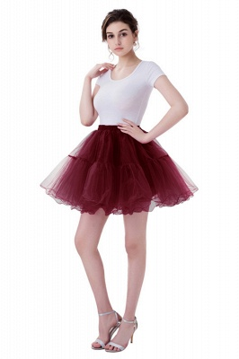 Brilliant Tulle Mini Short A-line Skirts | Elastic Women's Skirts_4