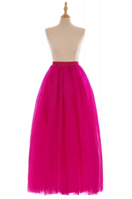 Glamorous A-line Floor-Length Skirt | Elastic Women's Skirts_5