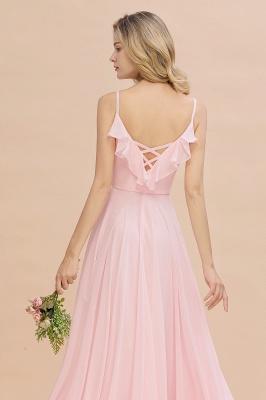 Cynthia | Stylish Straps V Neck Long Cheap Bridesmaid Dress Online_9