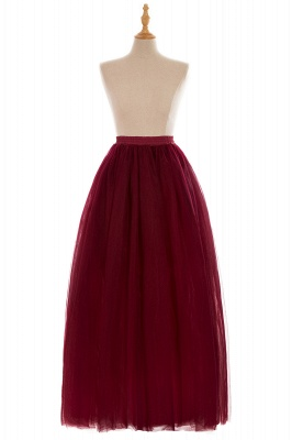 Glamorous A-line Floor-Length Skirt | Elastic Women's Skirts_6