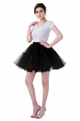 Brilliant Tulle Mini Short A-line Skirts | Elastic Women's Skirts_12