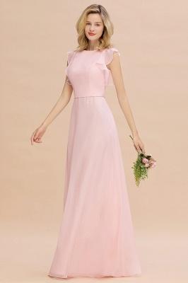 Einfache Brautjungfer Kleider Chiffon | Schlichte Brautjungfer Kleider A-Linie_3