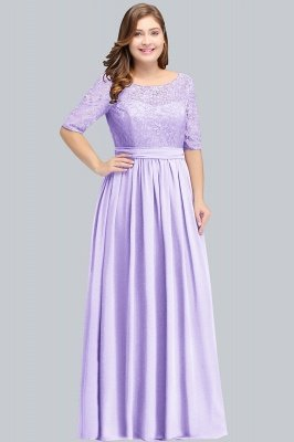 Plus Size Half Sleeves A-line Bridesmaid Dress Formal Dress for Wedding_2