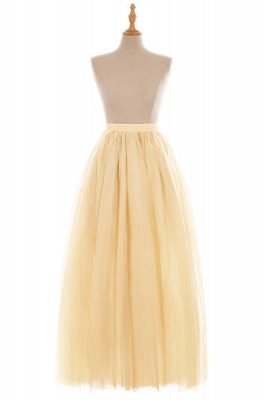 Glamorous A-line Floor-Length Skirt | Elastic Women's Skirts_8