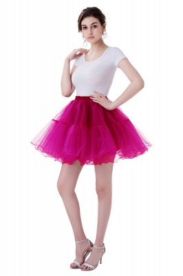 Brilliant Tulle Mini Short A-line Skirts | Elastic Women's Skirts_3