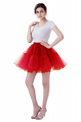 Brilliant Tulle Mini Short A-line Skirts | Elastic Women's Skirts_2