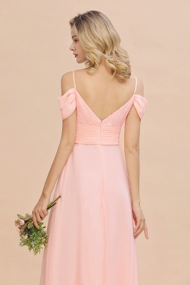 Spaghetti Straps Sweetheart Ruffles Bridesmaid Dress | Evening Dresses Online_9