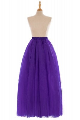 Glamorous A-line Floor-Length Skirt | Elastic Women's Skirts_11