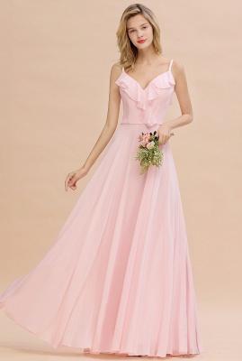 Cynthia | Stylish Straps V Neck Long Cheap Bridesmaid Dress Online_1