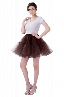 Brilliant Tulle Mini Short A-line Skirts | Elastic Women's Skirts_5
