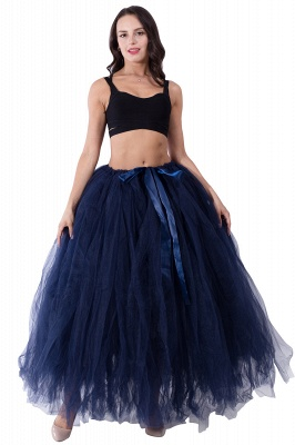 Fascinating Tulle Floor-Length Ball-Gown Skirts | Elastic Women's Skirts_13