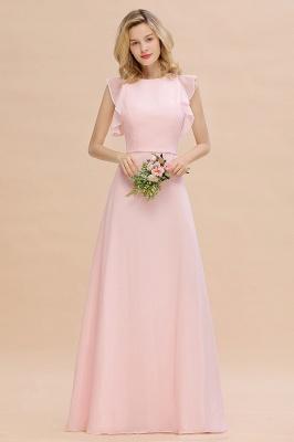 Einfache Brautjungfer Kleider Chiffon | Schlichte Brautjungfer Kleider A-Linie_1