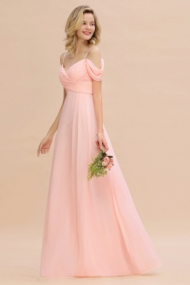 Spaghetti Straps Sweetheart Ruffles Bridesmaid Dress | Evening Dresses Online_6