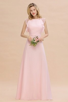 Einfache Brautjungfer Kleider Chiffon | Schlichte Brautjungfer Kleider A-Linie_6