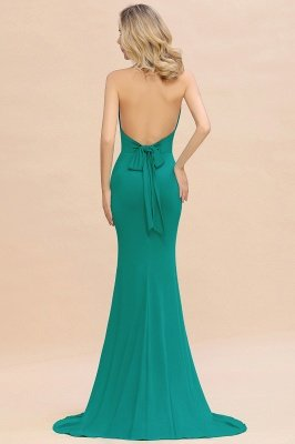 Elegant Mermaid Halter Pool Bridesmaid Dress Online_37