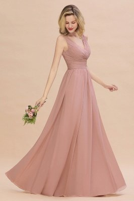 Elegant V-Neck Ruffles Bridesmaid Dress On Sale | Sexy Long Evening Dresses_7