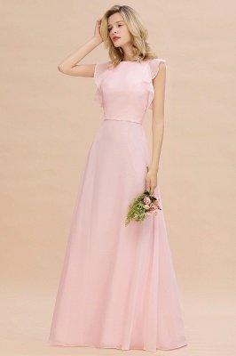 Einfache Brautjungfer Kleider Chiffon | Schlichte Brautjungfer Kleider A-Linie_5