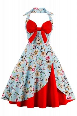 Brilliant Halter Sexy Flowers Fashion Kleider | Bow Damenkleider