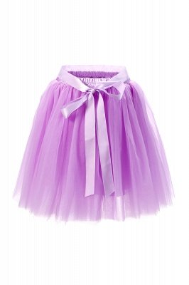 Amazing Tulle Short Mini Ball-Gown Skirts | Elastic Women's Skirts_9