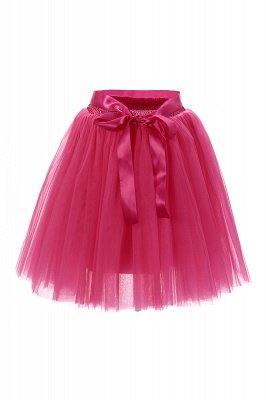 Amazing Tulle Short Mini Ball-Gown Skirts | Elastic Women's Skirts_5