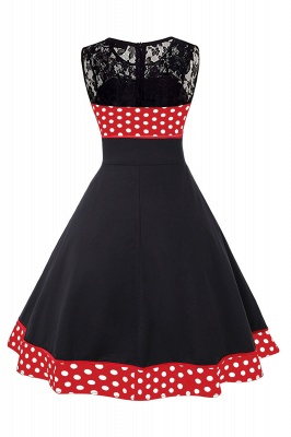 Gorgeous Sleevelwss Jewel Fashion Dresses | Polk-Dot Women's Dresses_9