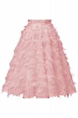 Elegant Halter Feather Princess Vintage Dresses | Retro A-line Burgundy Homecoming Dress_2