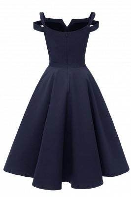 Vintage Kleider 50er Jahre Mit Trägern | Retro 50er Jahre Kleid Weinrot_22