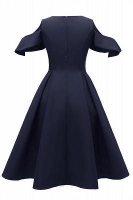 Elegantes U-Ausschnitt Halbarm 50er Jahre Kleid | Vintage Rockabilly Kleid Günstig_10