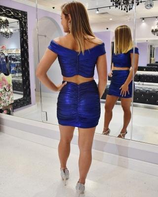 Stylish Off the Shoulder Homecoming Dress   Sexy Ruffles Short Mini Cocktail Dress_2
