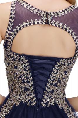 Милые пышные платья для выпускного вечера с кружевными аппликациями | Черное платье-подросток для коктейлей с открытой спиной и бисером_22