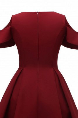 Elegantes U-Ausschnitt Halbarm 50er Jahre Kleid | Vintage Rockabilly Kleid Günstig_8