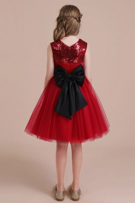 Fabulous Tulle A-line Flower Girl Dress |Graceful Sequins  Little Girls Dress for Wedding_3