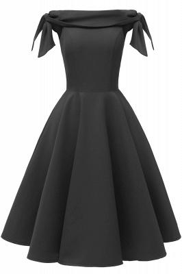 Womens Bateau Burgundy Navy Ruby Vintage Dresses | Retro Princess Short Party Dress_5