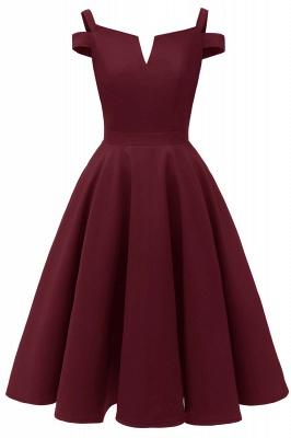 Vintage Kleider 50er Jahre Mit Trägern | Retro 50er Jahre Kleid Weinrot_2
