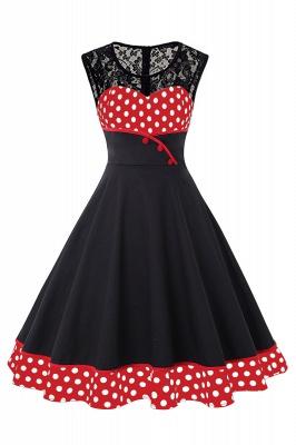 Gorgeous Sleevelwss Jewel Fashion Dresses | Polk-Dot Women's Dresses_8