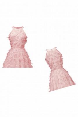 Elegant Halter Feather Princess Vintage Dresses | Retro A-line Burgundy Homecoming Dress_17