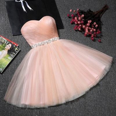 Tulle Ruffles Pink Homecoming Dress   Sweetheart Short Hoco Dress_3