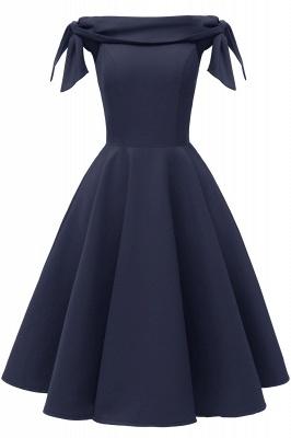 Womens Bateau Burgundy Navy Ruby Vintage Dresses | Retro Princess Short Party Dress_8