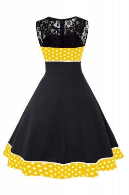 Gorgeous Sleevelwss Jewel Fashion Dresses | Polk-Dot Women's Dresses_11