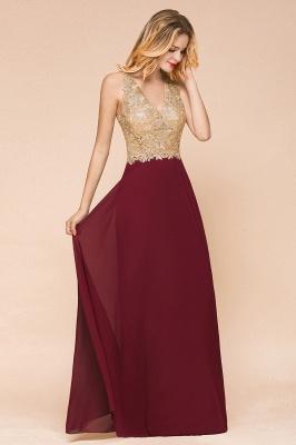 Wunderschönes ärmelloses Burgunder-Abendkleid mit V-Ausschnitt | Billiges formelles Kleid_6