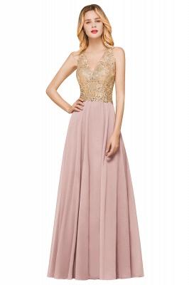 Wunderschönes ärmelloses Burgunder-Abendkleid mit V-Ausschnitt | Billiges formelles Kleid_1